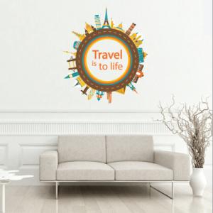 # Αυτοκόλλητο τοίχου travel - Sticker Box