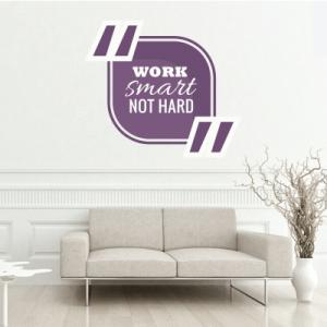 # Αυτοκόλλητο τοίχου work smart - Sticker Box