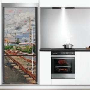 # Αυτοκόλλητο ψυγείου γραμμές τρένου - Sticker Box