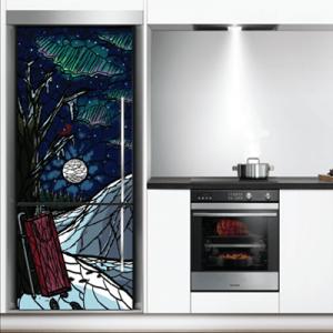 # Αυτοκόλλητο ψυγείου ζωγραφιά άγριο δάσος - Sticker Box