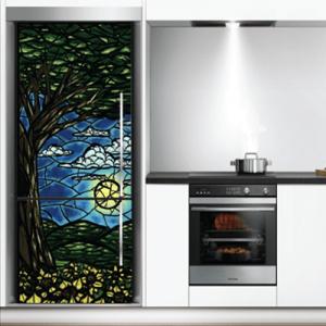 # Αυτοκόλλητο ψυγείου ζωγραφιά με δάσος - Sticker Box