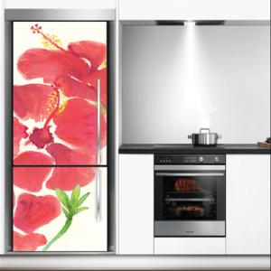 # Αυτοκόλλητο ψυγείου ζωγραφιά με λουλούδια - Sticker Box