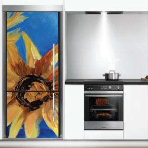 # Αυτοκόλλητο ψυγείου ζωγραφιά με λουλούδι - Sticker Box