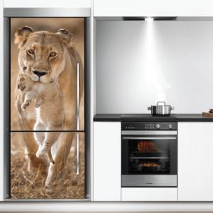 # Αυτοκόλλητο ψυγείου λιοντάρια - Sticker Box