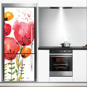 # Αυτοκόλλητο ψυγείου παπαρούνες - Sticker Box