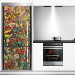 # Αυτοκόλλητο ψυγείου πολύχρωμα λουλούδια - Sticker Box