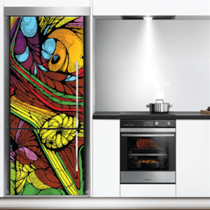 # Αυτοκόλλητο ψυγείου πολύχρωμα σχέδια - Sticker Box