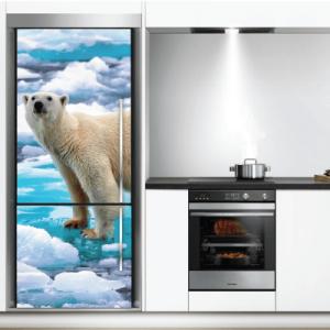 # Αυτοκόλλητο ψυγείου με αρκούδα - Sticker Box