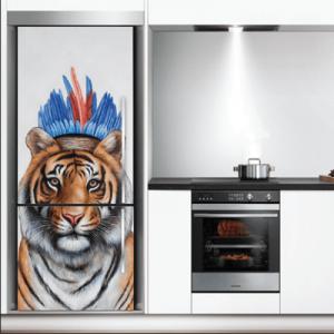 # Αυτοκόλλητο ψυγείου με τίγρη - Sticker Box