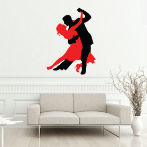 # Αυτοκόλλητο τοίχου χορευτές τάνγκο - Sticker Box