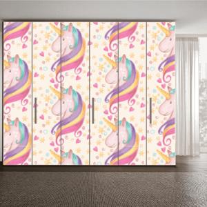 # Αυτοκόλλητα ντουλάπας με μονόκερο - Sticker Box