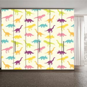 # Αυτοκόλλητα ντουλάπας μοτίβο με δεινόσαυρους - Sticker Box