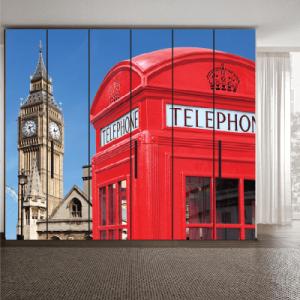 # Αυτοκόλλητο ντουλάπας Λοδίνο τηλεφωνικός θάλαμος - Sticker Box