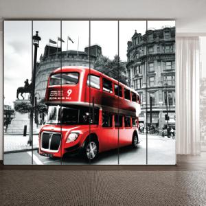 # Αυτοκόλλητο ντουλάπας Λονδίνο κόκκινο λεωφορείο - Sticker Box