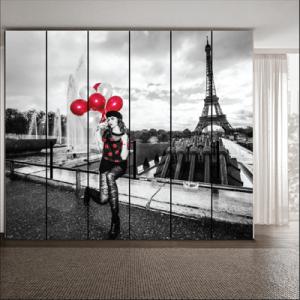 # Αυτοκόλλητο ντουλάπας Παρίσι - Sticker Box
