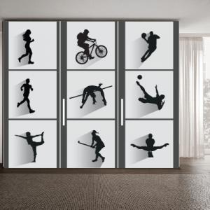 # Αυτοκόλλητο ντουλάπας αθλήματα - Sticker Box