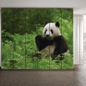 # Αυτοκόλλητο ντουλάπας αρκούδα panda - Sticker Box