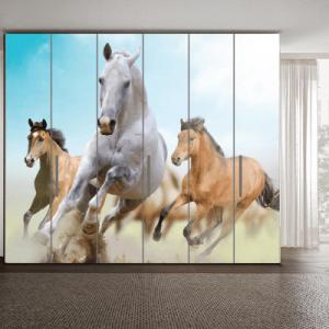 # Αυτοκόλλητο ντουλάπας με άλογα - Sticker Box