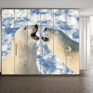 # Αυτοκόλλητο ντουλάπας με πολικές αρκούδες - Sticker Box