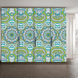 # Αυτοκόλλητο ντουλάπας μοτίβο σχήματα - Sticker Box