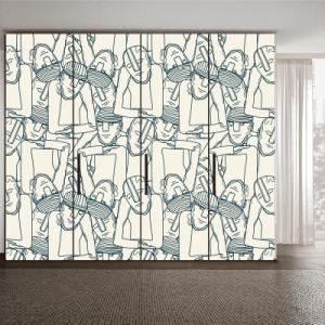 # Αυτοκόλλητο ντουλάπας μοτίβο - Sticker Box