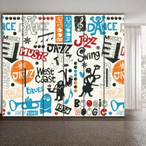 # Αυτοκόλλητο ντουλάπας μουσικό μοτίβο - Sticker Box