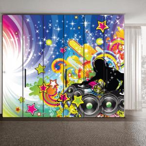 # Αυτοκόλλητο ντουλάπας ρυθμός της μουσικής - Sticker Box
