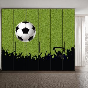 # Αυτοκόλλητο ντουλάπας φίλαθλοι ποδόσφαιρο - Sticker Box