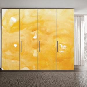 Αυτοκόλλητο ντουλάπας κίτρινο μοτίβο
