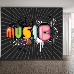# Αυτοκόλλητο ντουλάπας music - Sticker Box