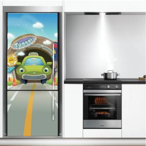 # Αυτοκόλλητο ψυγείου αυτοκίνητο στο δρόμο - Sticker Box