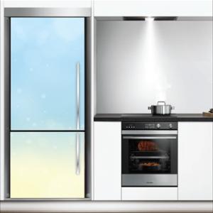 # Αυτοκόλλητο ψυγείου γαλάζιο μοτίβο - Sticker Box
