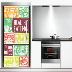 # Αυτοκόλλητο ψυγείου διατροφική αλυσίδα - Sticker Box