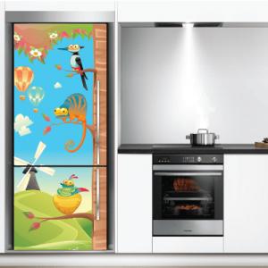 # Αυτοκόλλητο ψυγείου ζωάκια - Sticker Box