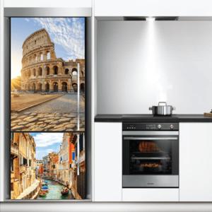 # Αυτοκόλλητο ψυγείου κολάζ Ιταλία - Sticker Box