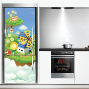 # Αυτοκόλλητο ψυγείου μαγικό χωριό - Sticker Box