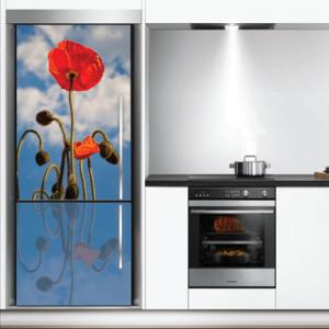 # Αυτοκόλλητο ψυγείου με παπαρούνα - Sticker Box