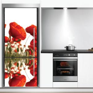 # Αυτοκόλλητο ψυγείου με παπαρούνες - Sticker Box