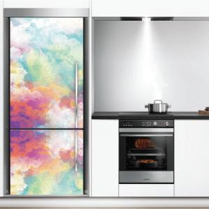 # Αυτοκόλλητο ψυγείου με πολύχρωμα σύννεφα - Sticker Box