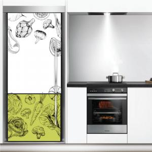 # Αυτοκόλλητο ψυγείου μοτίβο με λαχανικά - Sticker Box
