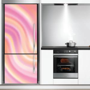 # Αυτοκόλλητο ψυγείου μοτίβο ροζ - Sticker Box