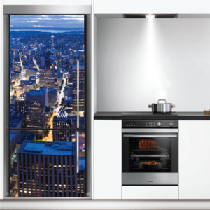 # Αυτοκόλλητο ψυγείου πόλη τη νύχτα - Sticker Box