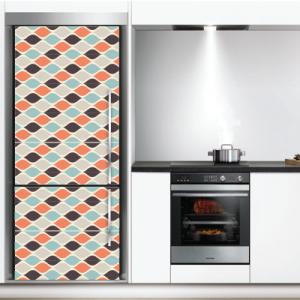 # Αυτοκόλλητο ψυγείου ρετρό μοτίβο - Sticker Box