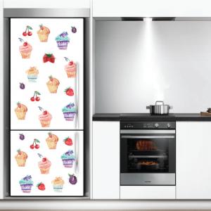 # Αυτοκόλλητο ψυγείου cup cakes - Sticker Box
