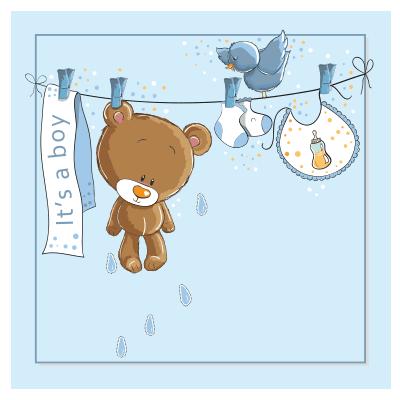 # Πίνακας για μωρό αγόρι - Sticker Box