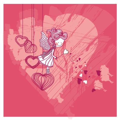 # Πίνακας κορίτσι με καρδούλες - Sticker Box