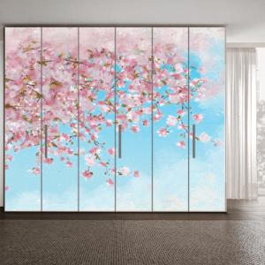 # Αυτοκόλλητο ντουλάπας δέντρο την άνοιξη - Sticker Box
