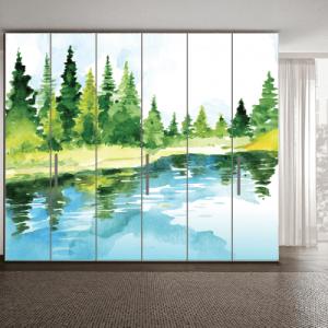 # Αυτοκόλλητο ντουλάπας ζωγραφιά με δάσος - Sticker Box