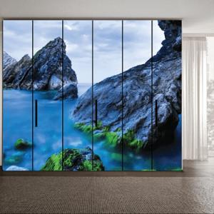 # Αυτοκόλλητο ντουλάπας θάλασσα και βουνό - Sticker Box