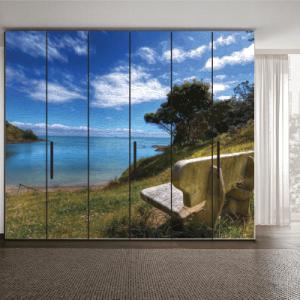 # Αυτοκόλλητο ντουλάπας τοπίο με θάλασσα - Sticker Box